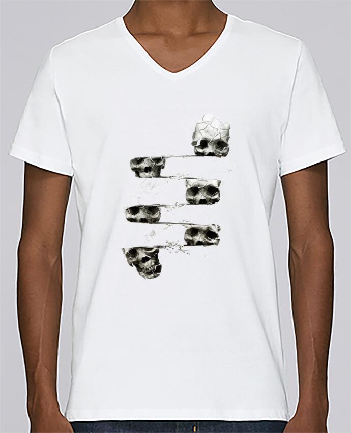 T-shirt Col V Homme Stanley Relaxes Skull 3 par ali_gulec