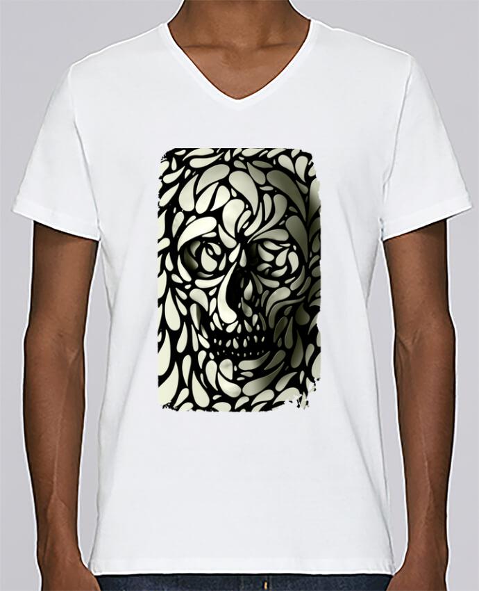 T-shirt Col V Homme Stanley Relaxes Skull 4 par ali_gulec