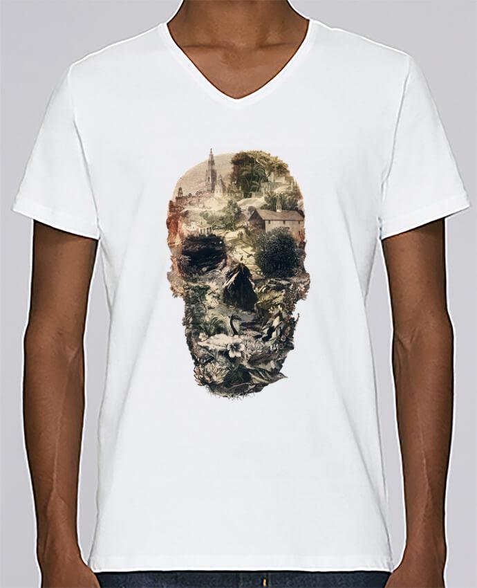 T-shirt Col V Homme Stanley Relaxes Skull town par ali_gulec