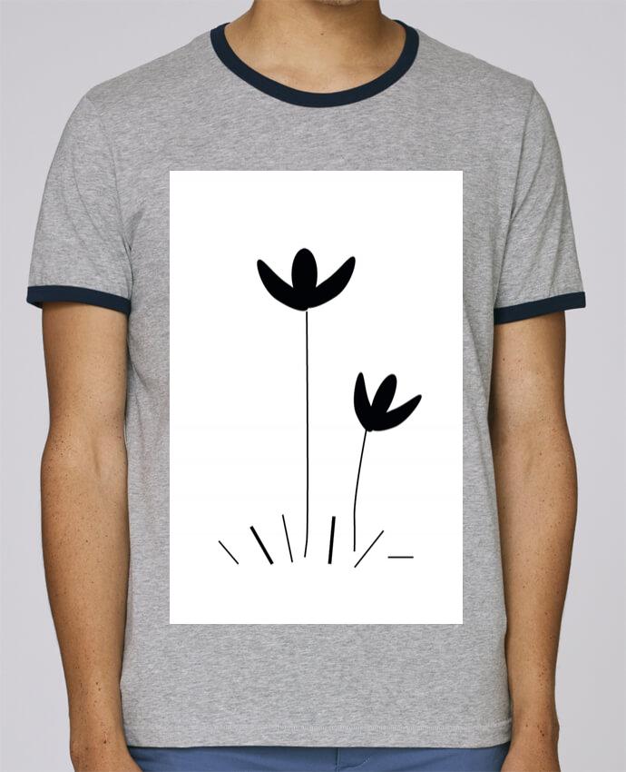 T Shirt Ringer Contraste Homme Stanley Holds Fleur Pour Homme 100