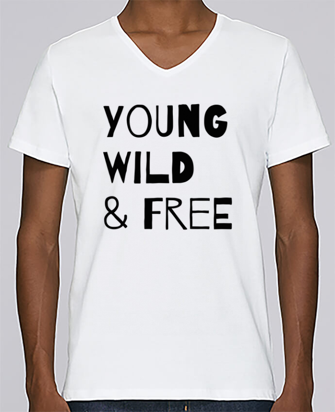 T-shirt Col V Homme Stanley Relaxes YOUNG, WILD, FREE par tunetoo