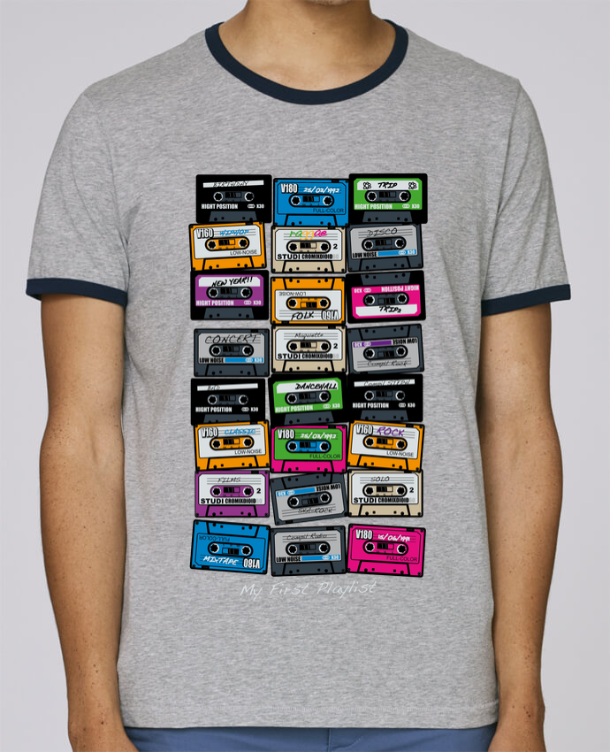 T-Shirt Ringer Contrasté Homme Stanley Holds My First Playlist pour femme par PDT