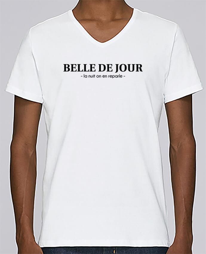 T-shirt Col V Homme Stanley Relaxes BELLE DE JOUR - la nuit on en reparle - par tunetoo
