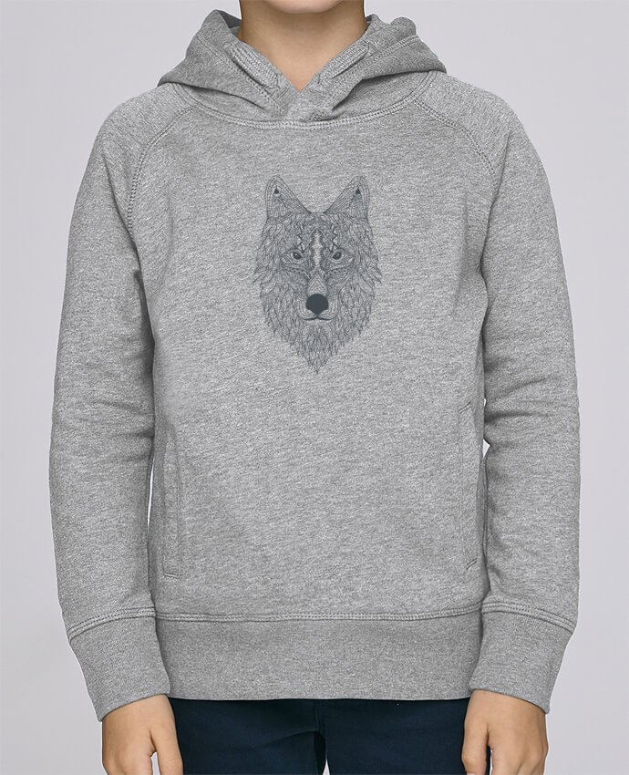 Sweat à Capuche Enfant Stanley Mini Base Wolf par Bichette