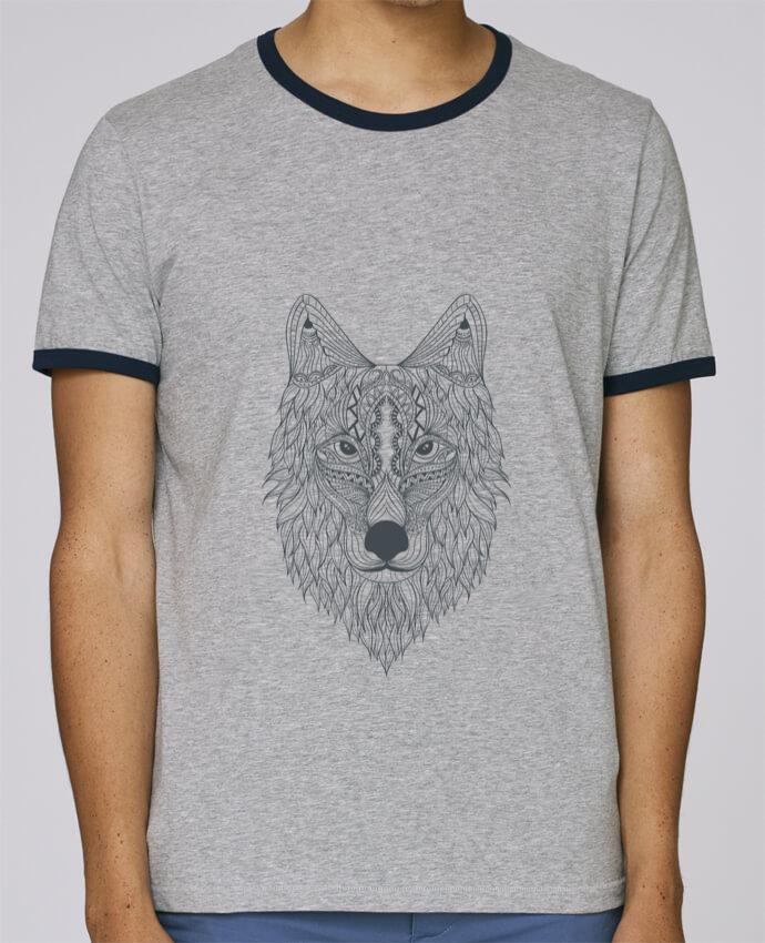 T-Shirt Ringer Contrasté Homme Stanley Holds Wolf pour femme par Bichette