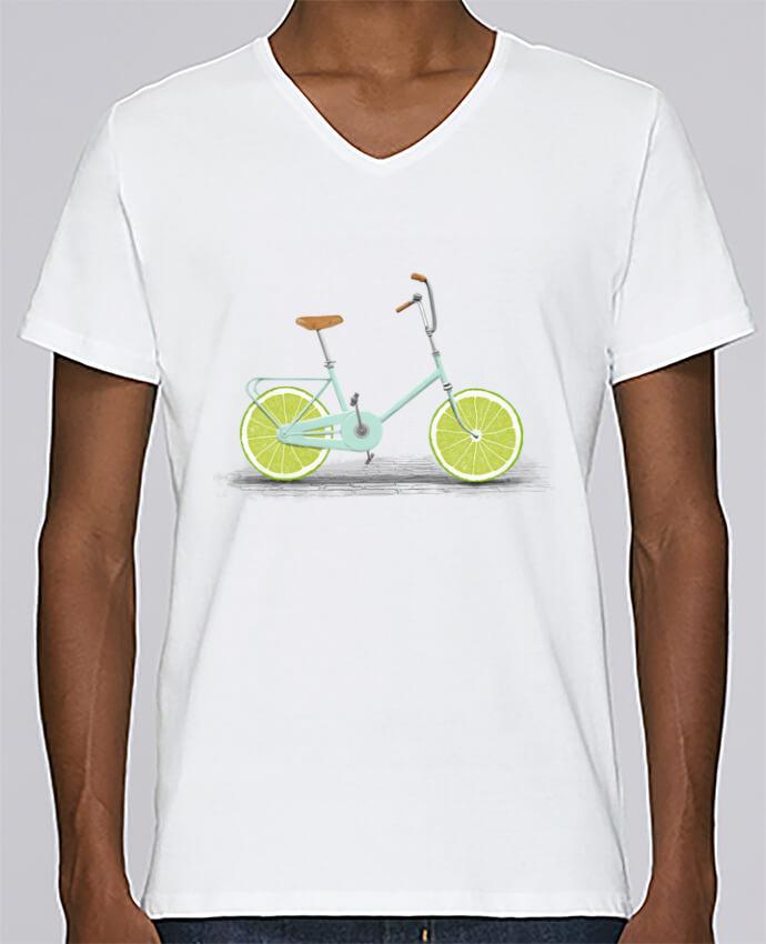 T-shirt Col V Homme Stanley Relaxes Acid par Florent Bodart