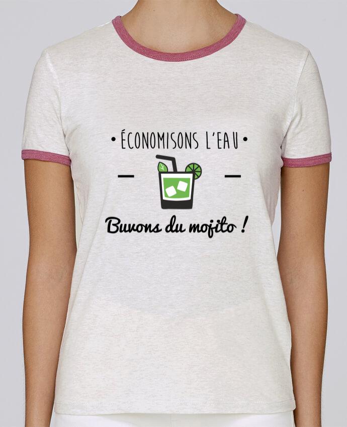 T-shirt Femme Stella Returns Économisons l'eau, buvons du mojito ! Humour , alcool , citations pour femme par Benichan
