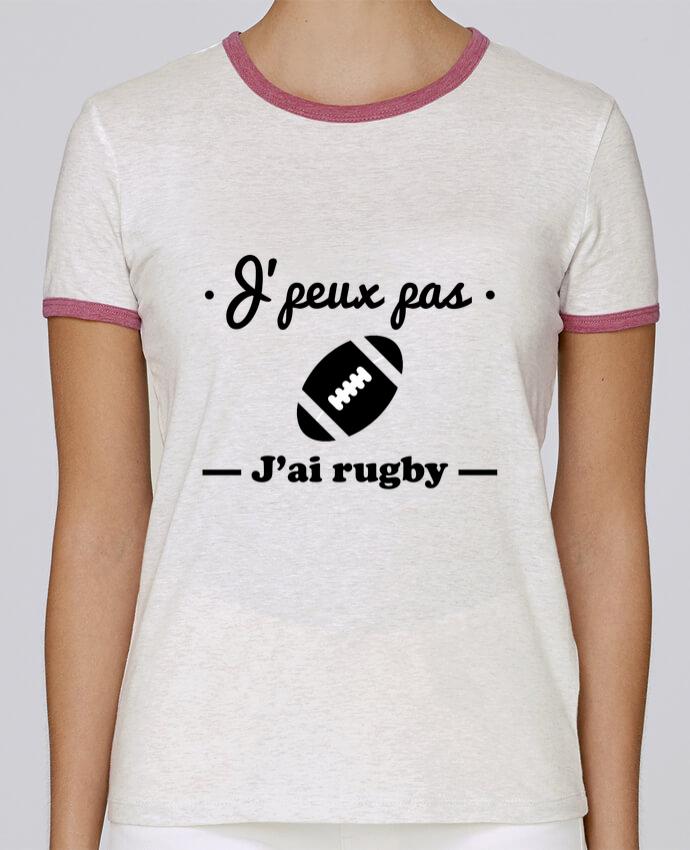 T-shirt Femme Stella Returns J'peux pas j'ai rugby pour femme par Benichan