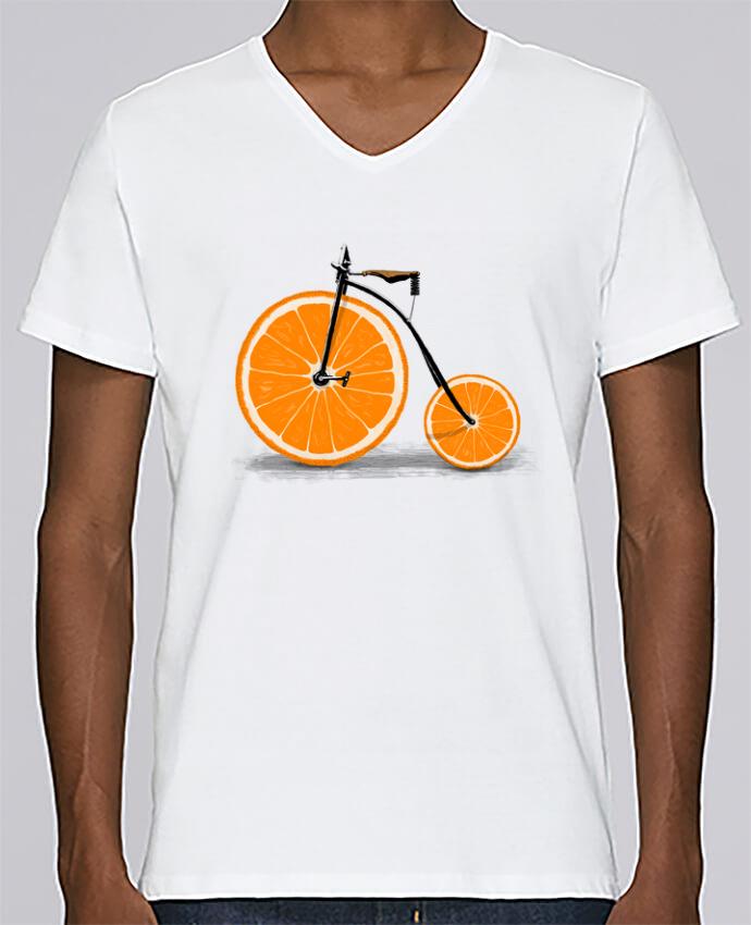T-shirt Col V Homme Stanley Relaxes Vitamin par Florent Bodart