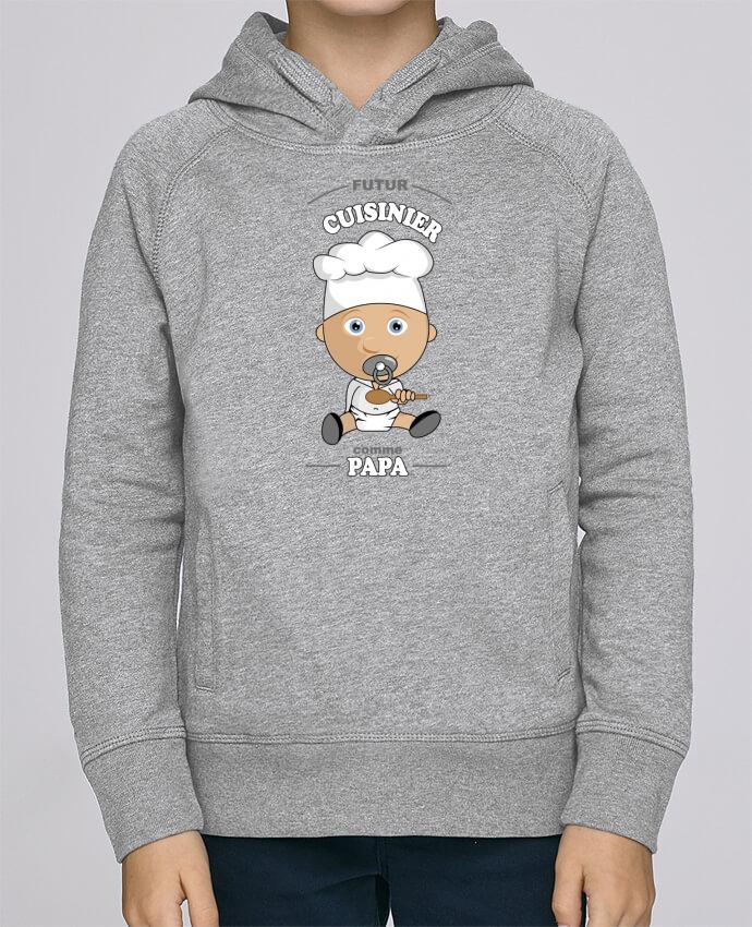 Sweat à Capuche Enfant Stanley Mini Base Futur cuisinier comme papa par GraphiCK-Kids