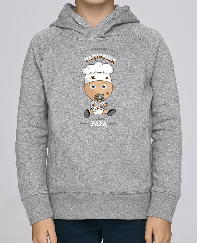 Sweat à Capuche Enfant Stanley Mini Base Futur pâtissier comme papa par GraphiCK-Kids