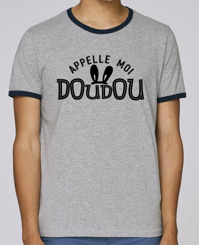 T-Shirt Ringer Contrasté Homme Stanley Holds Appelle moi doudou pour femme par tunetoo