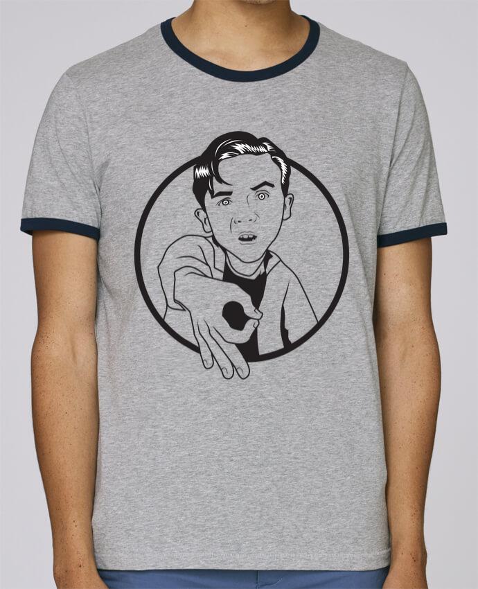 T-Shirt Ringer Contrasté Homme Stanley Holds Malcolm, jeu de l'oeil pour femme par tunetoo