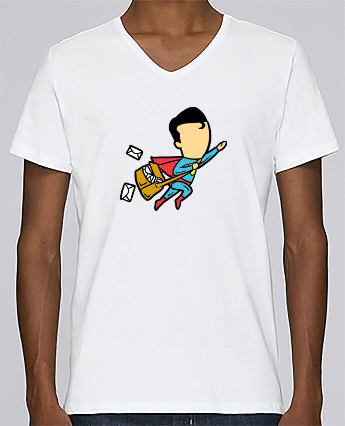 T-shirt Col V Homme Stanley Relaxes Post par flyingmouse365