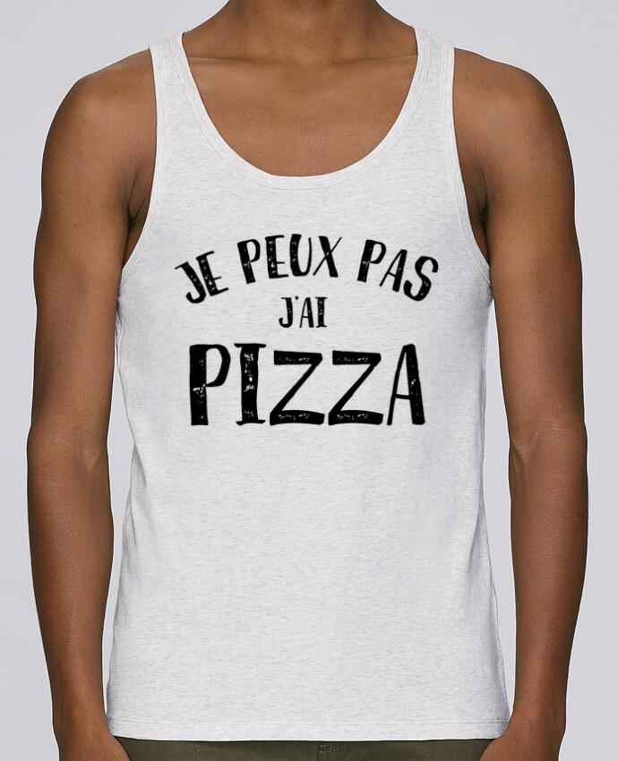 Débardeur Bio Homme Stanley Runs Je peux pas j'ai Pizza par L'Homme Sandwich 100% coton bio