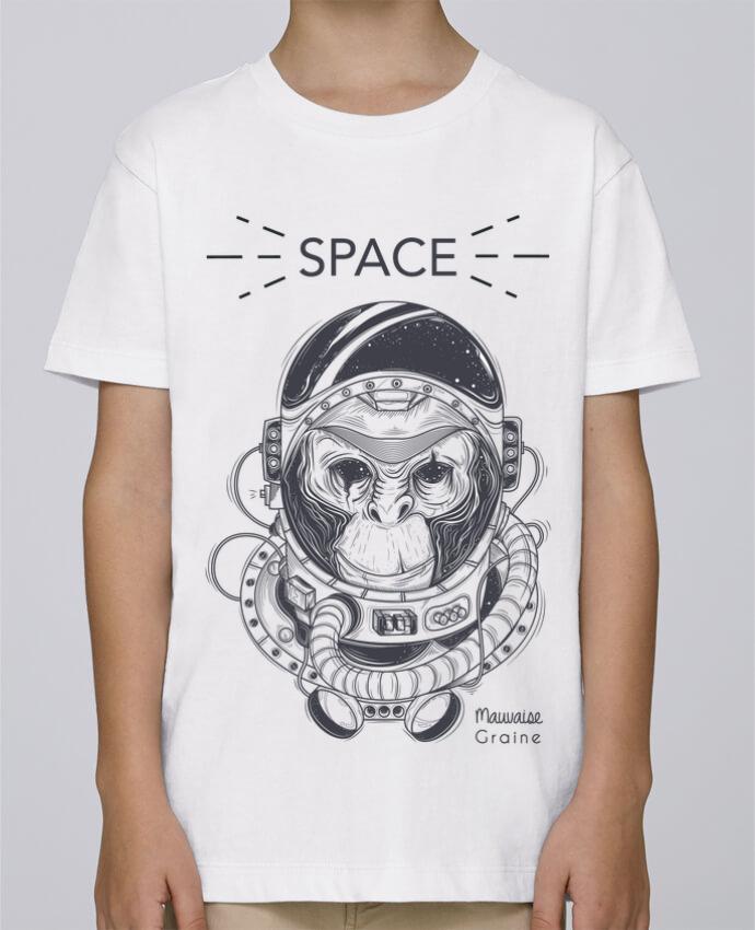 Tee Shirt Garçon Stanley Mini Paint Monkey space par Mauvaise Graine