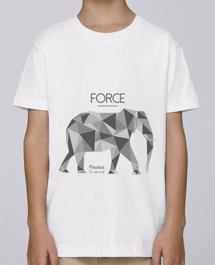 Tee Shirt Garçon Stanley Mini Paint Force elephant origami par Mauvaise Graine
