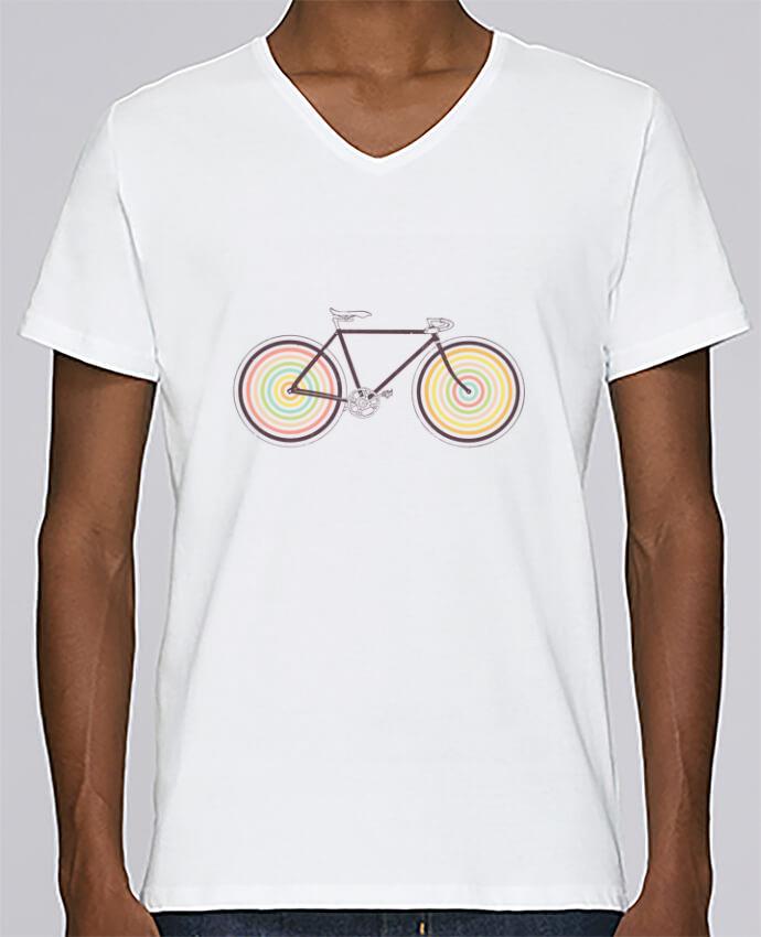T-shirt Col V Homme Stanley Relaxes Velocolor par Florent Bodart
