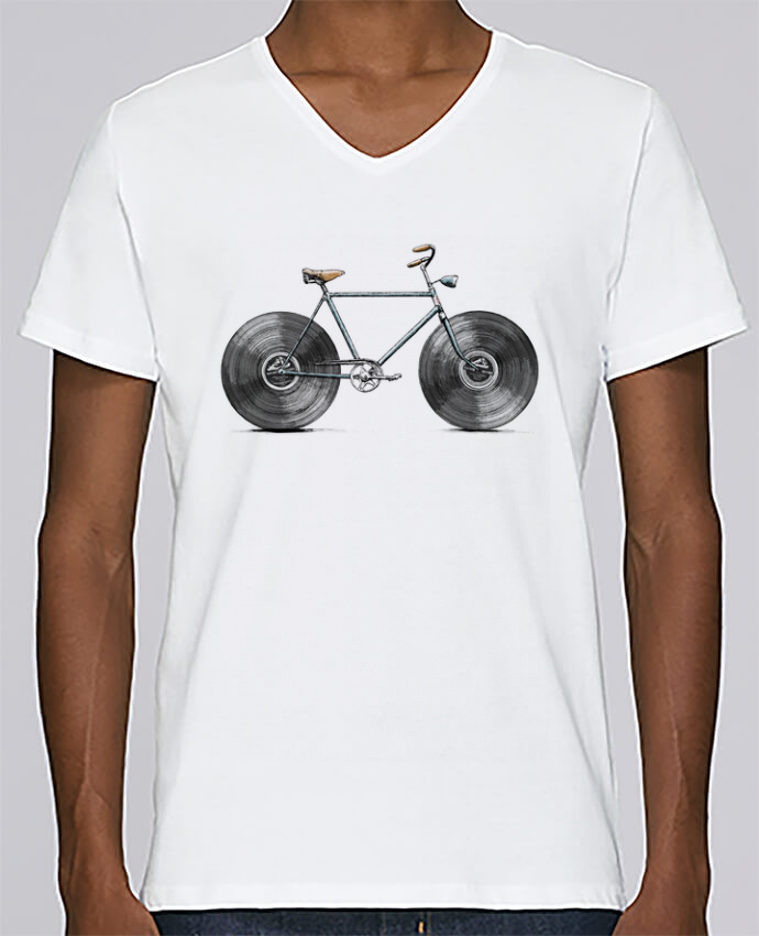 T-shirt Col V Homme Stanley Relaxes Velophone par Florent Bodart