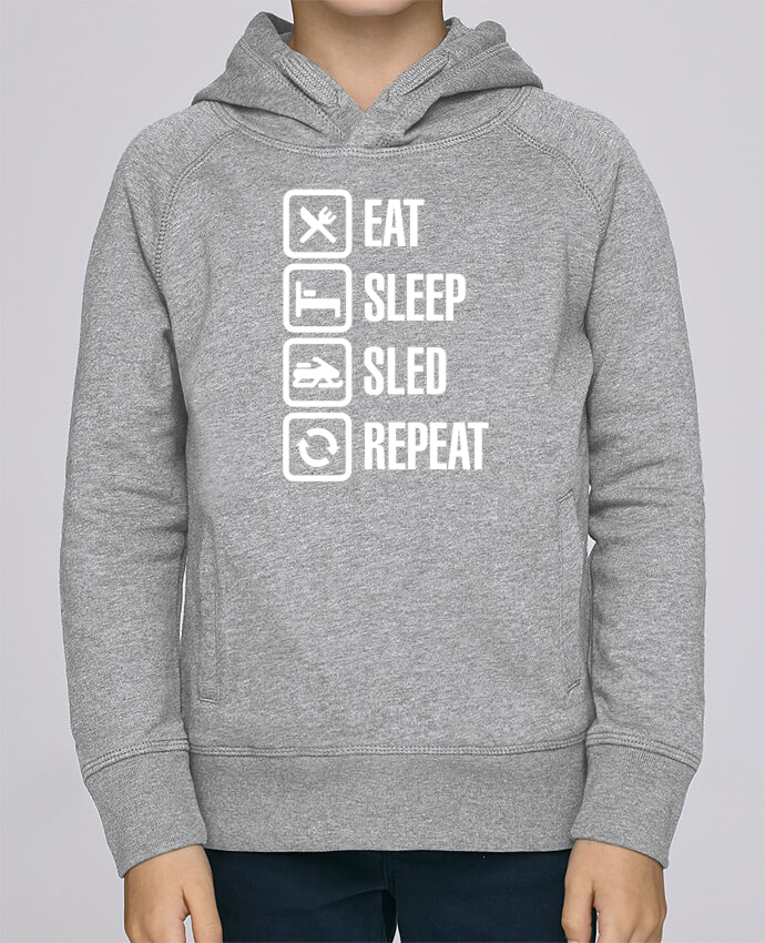 Sweat à Capuche Enfant Stanley Mini Base Eat, sleep, sled, repeat par LaundryFactory