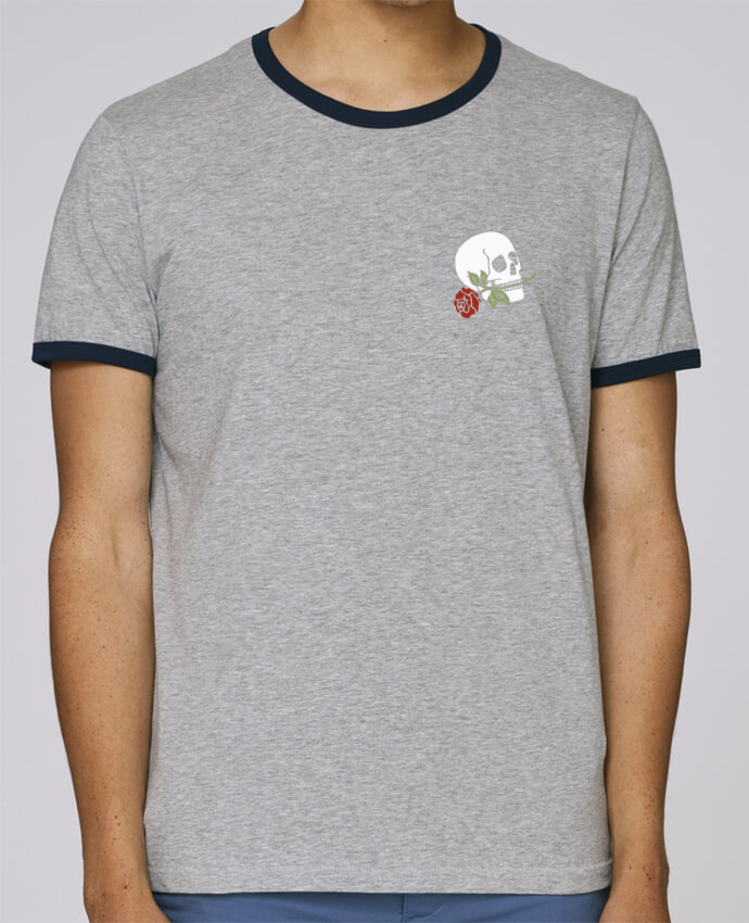 T-Shirt Ringer Contrasté Homme Stanley Holds Skull flower pour femme par Ruuud
