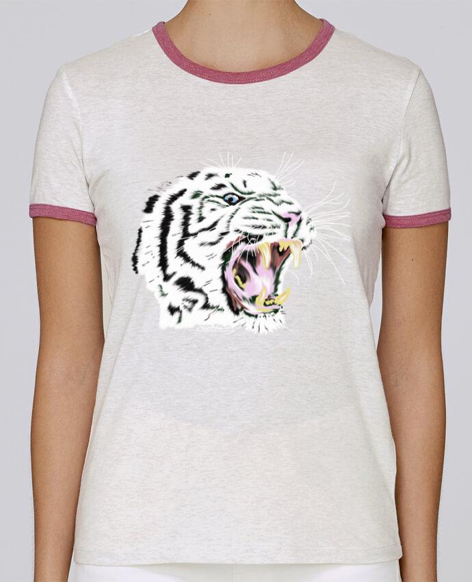 T-shirt Femme Stella Returns Tigre blanc rugissant pour femme par Cameleon