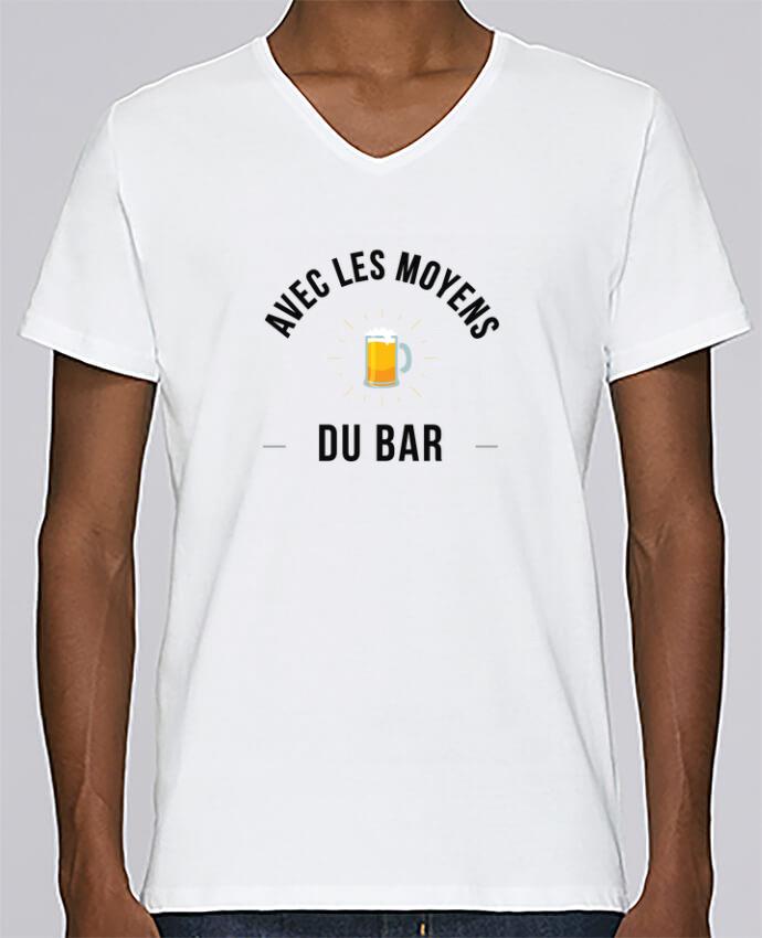 T-shirt Col V Homme Stanley Relaxes Avec les moyens du bar par Ruuud