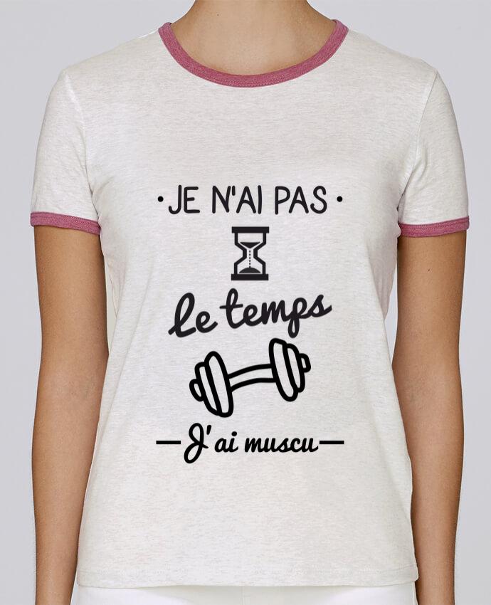 T-shirt Femme Stella Returns Pas le temps, j'ai muscu, tee shirt musculation pour femme par Benichan