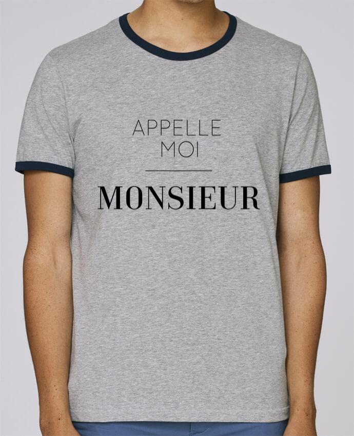 T-Shirt Ringer Contrasté Homme Stanley Holds Appelle moi Monsieur pour femme par tunetoo