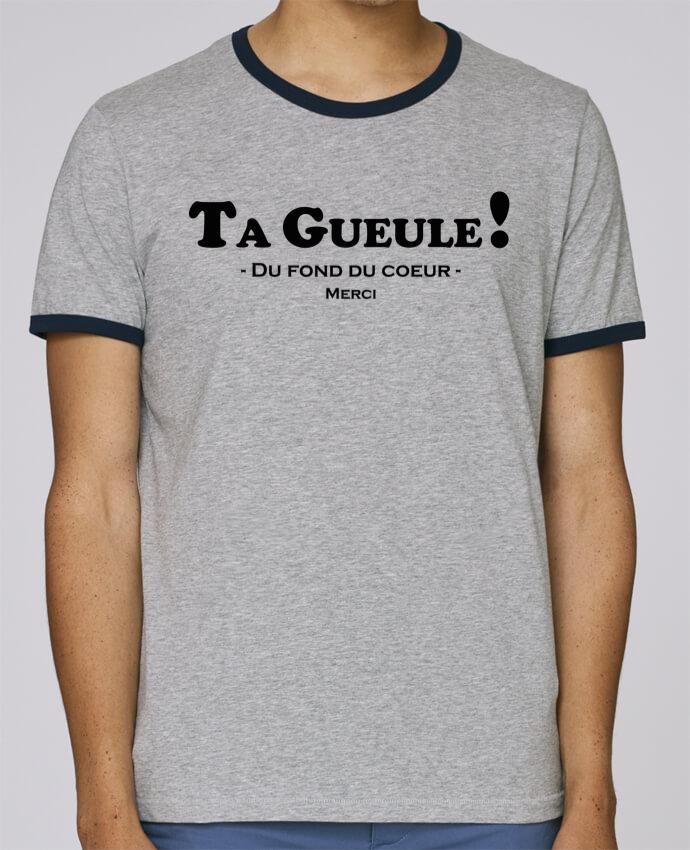 T-Shirt Ringer Contrasté Homme Stanley Holds Ta geule ! pour femme par tunetoo