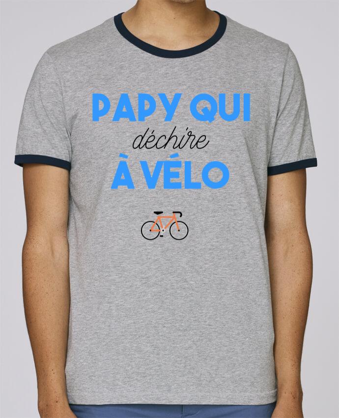 T-Shirt Ringer Contrasté Homme Stanley Holds Papy qui déchire à Vélo pour femme par tunetoo