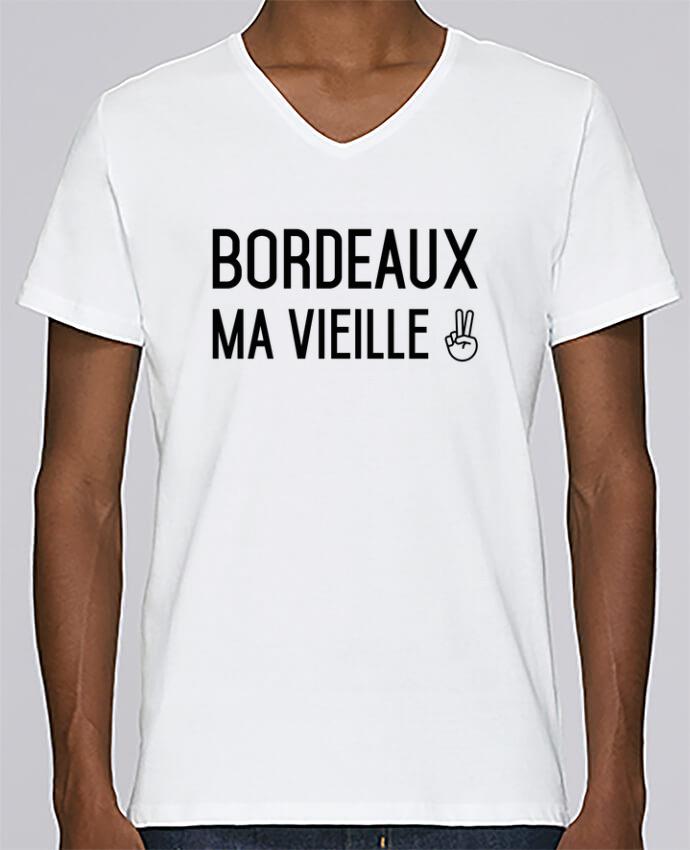 T-shirt Col V Homme Stanley Relaxes Bordeaux ma vieille par tunetoo