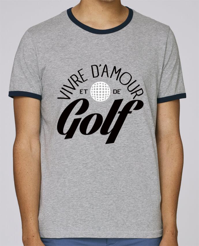 T-Shirt Ringer Contrasté Homme Stanley Holds Vivre d'Amour et de Golf pour femme par Freeyourshirt.com