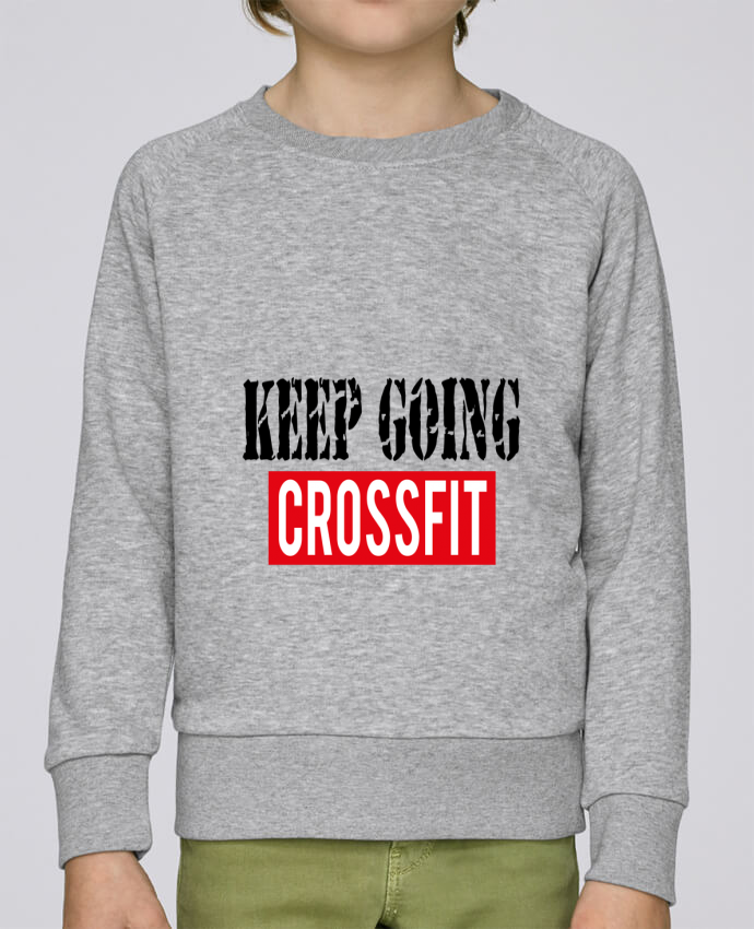 Sweat Col Rond Enfant Stanley Mini Scouts Keep going ! Crossfit par tunetoo