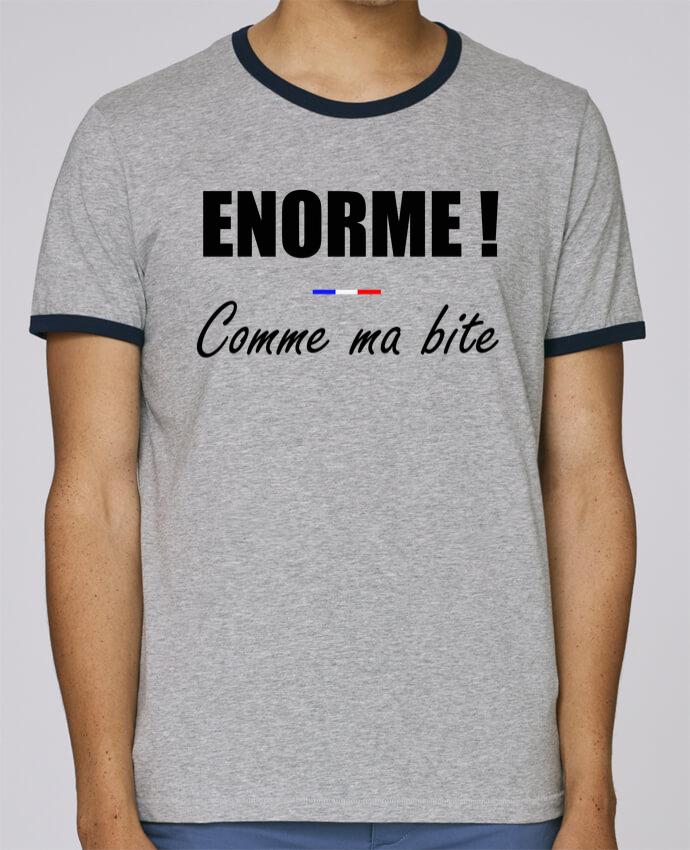 T-Shirt Ringer Contrasté Homme Stanley Holds Énorme comme ma bite pour femme par tunetoo