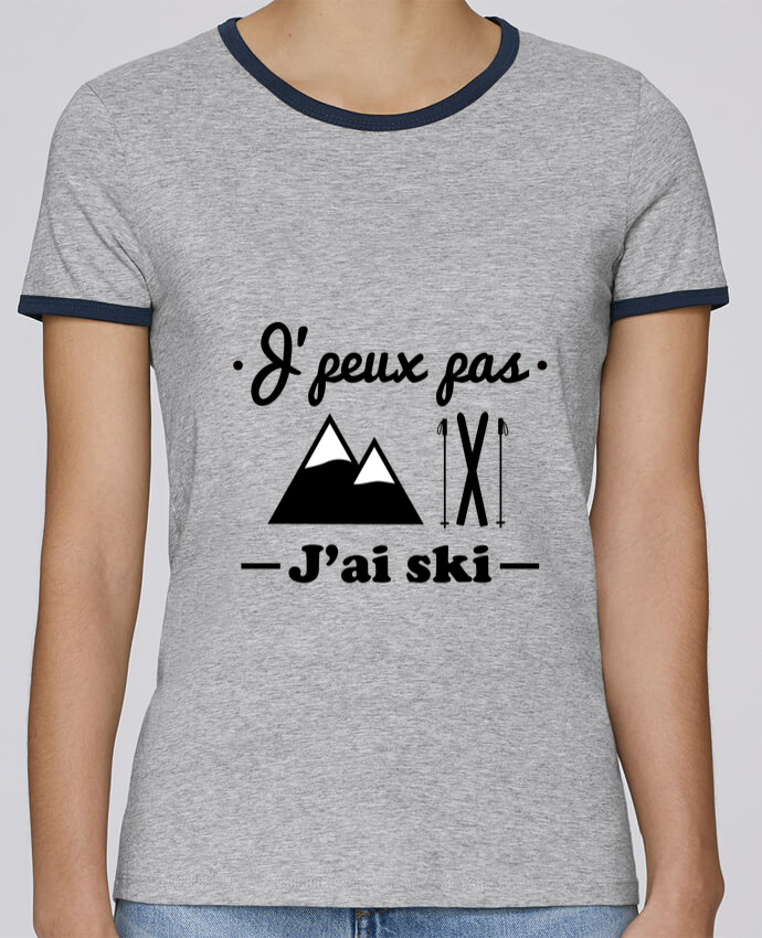 T-shirt Femme Stella Returns J'peux pas j'ai ski pour femme par Benichan