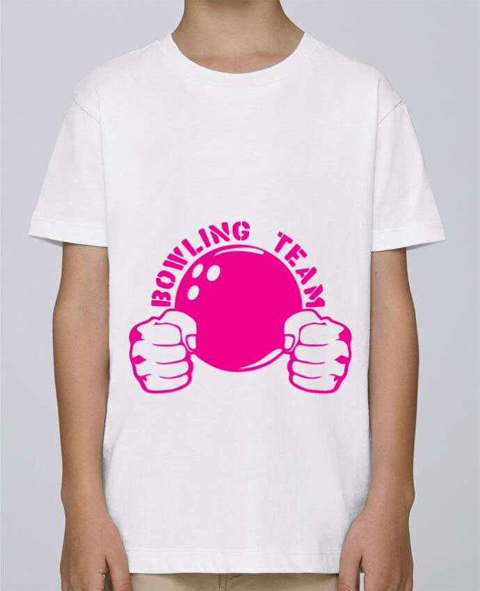 Tee Shirt Garçon Stanley Mini Paint bowling team poing fermer logo club par Achille