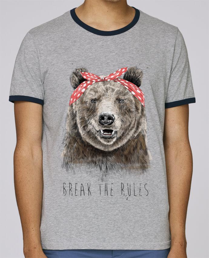 T-Shirt Ringer Contrasté Homme Stanley Holds Break the rules II pour femme par Balàzs Solti