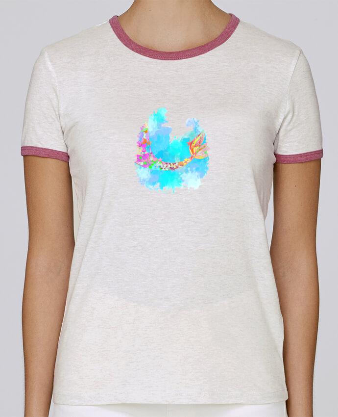T-shirt Femme Stella Returns Watercolor Mermaid pour femme par PinkGlitter