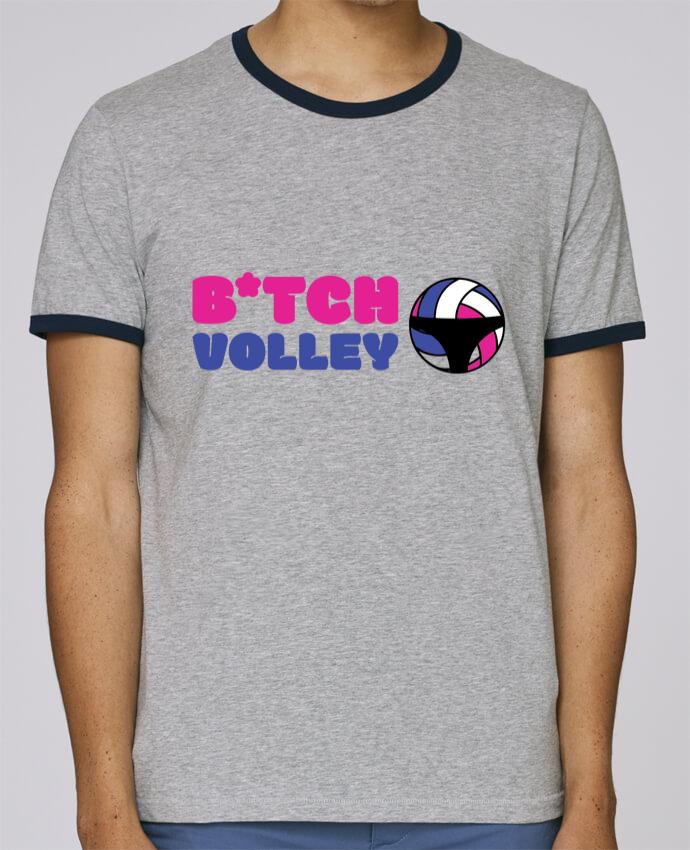 T-Shirt Ringer Contrasté Homme Stanley Holds B*tch volley pour femme par tunetoo
