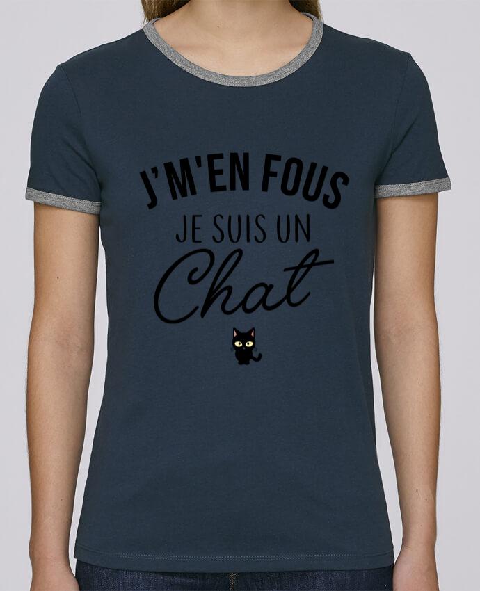 T-shirt Femme Stella Returns J'm'en fous je suis un chat pour femme par LPMDL