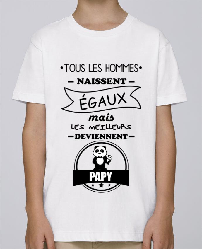 Tee Shirt Garçon Stanley Mini Paint Tous les hommes naissent égaux mais les meilleurs deviennent papy, papi, papis, papys