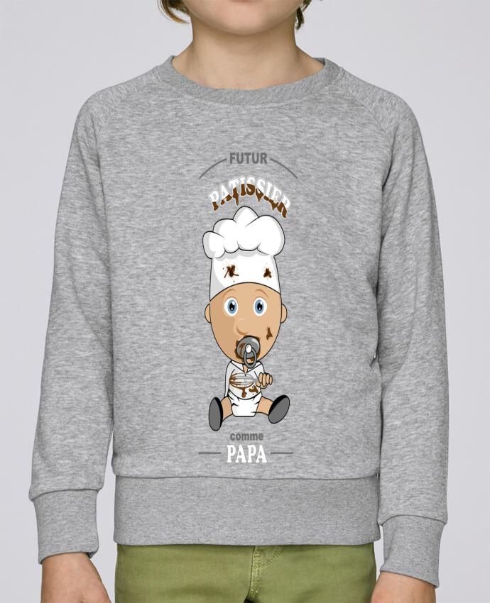 Sweat Col Rond Enfant Stanley Mini Scouts Futur pâtissier comme papa par GraphiCK-Kids