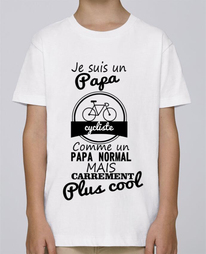 Tee Shirt Garçon Stanley Mini Paint Je suis un papa cycliste comme un papa normal mais carrément plus cool par Benichan