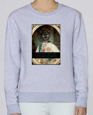 Sweat Col rond Femme Stella Hides King Cat par Tchernobayle