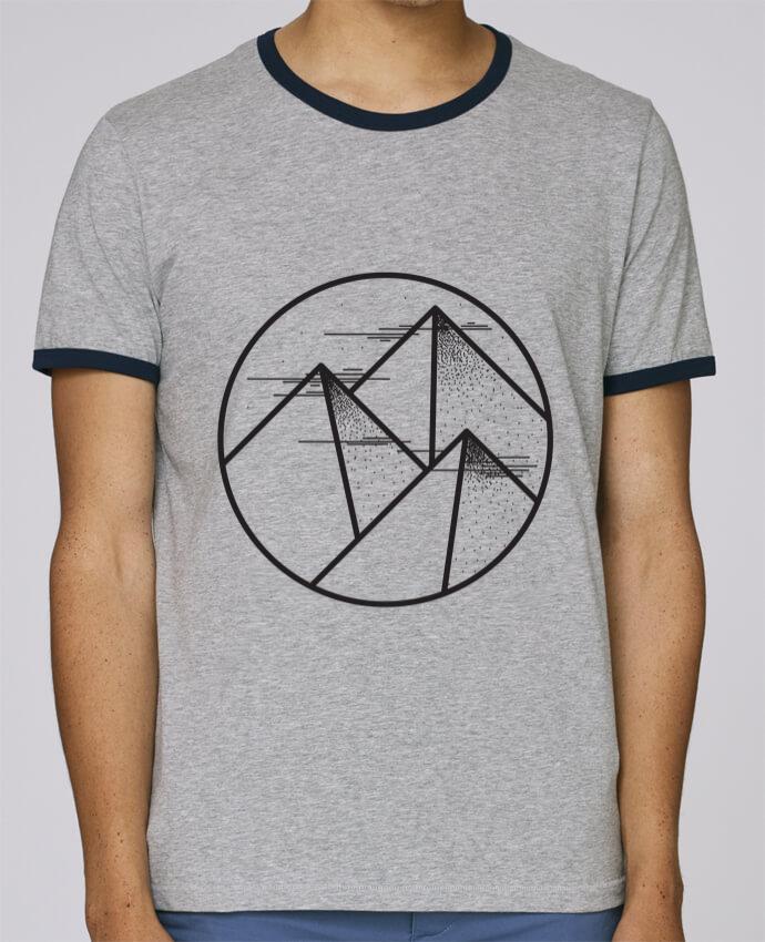 T-Shirt Ringer Contrasté Homme Stanley Holds montagne - graphique pour femme par /wait-design
