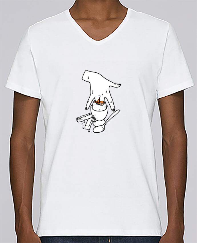T-shirt Col V Homme Stanley Relaxes Super mouillette ou qui viole un oeuf viole un boeuf par tattooanshort