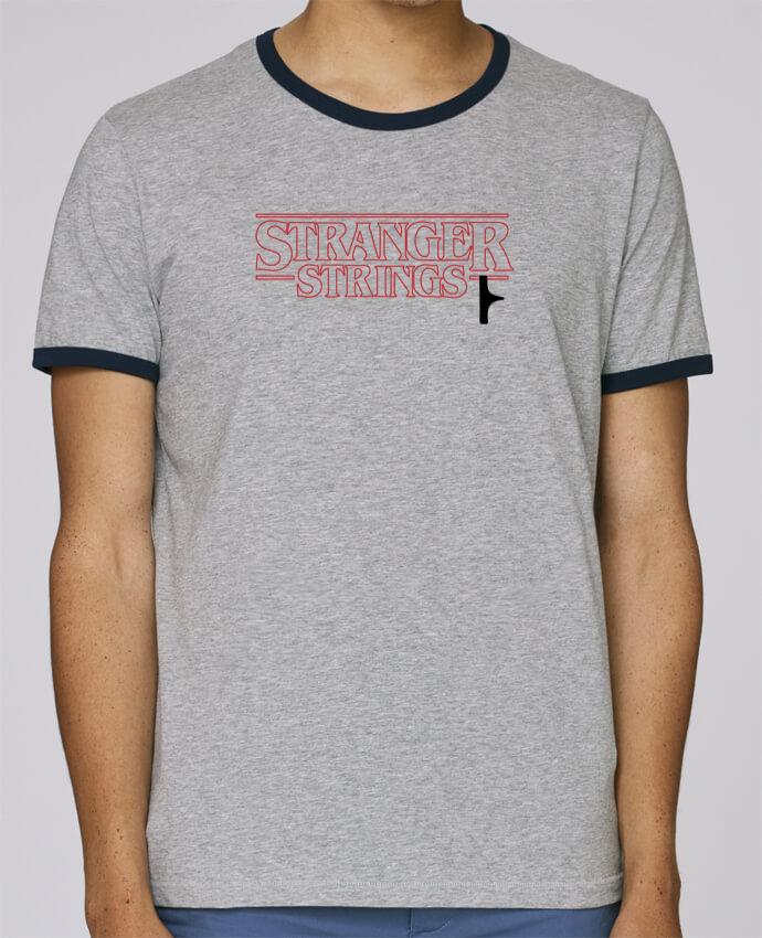 T-Shirt Ringer Contrasté Homme Stanley Holds Stranger strings pour femme par tunetoo