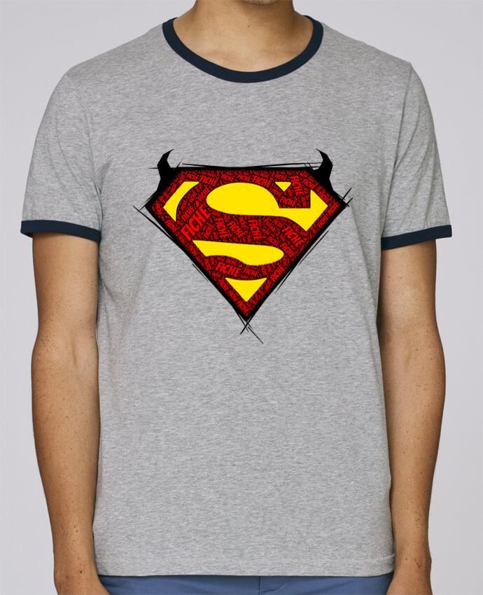 T-Shirt Ringer Contrasté Homme Stanley Holds Super Fiché pour femme par Dontuch