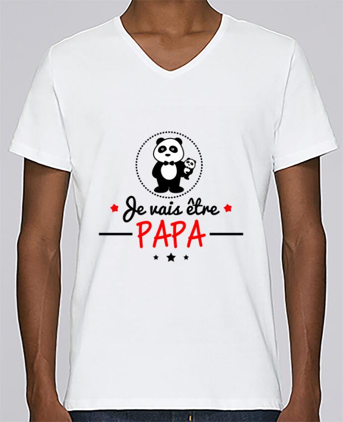 T-shirt Col V Homme Stanley Relaxes Bientôt papa , Futur père par Benichan